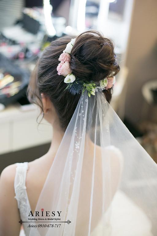 迎娶造型,愛瑞思婚紗,韓風新秘,新娘秘書,ariesy,台北新娘化妝師