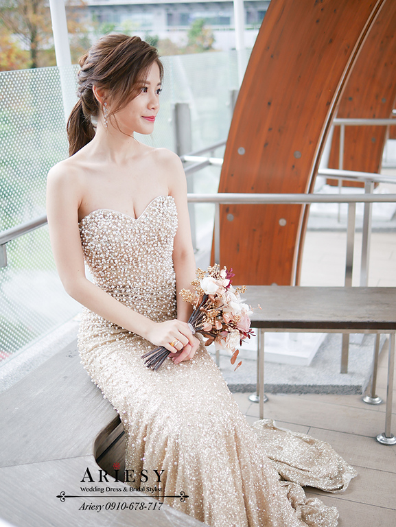 愛瑞思婚紗,新秘,新娘秘書,ariesy,台北新娘化妝師,歐美風新秘