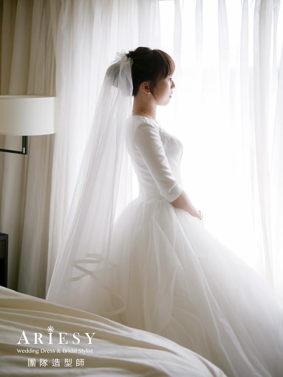 """""""迎娶髮型,新娘白紗造型,台北新秘,韓式造型,新娘造型""""/"""