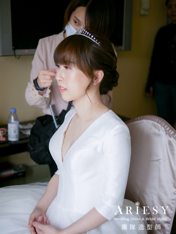進場髮型,新娘白紗造型,新秘,韓式新娘造型,新娘造型