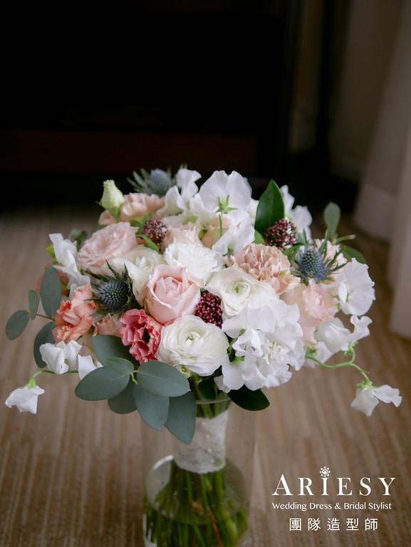 宴客捧花,捧花訂製,新秘花藝,鮮花新秘,新秘花藝