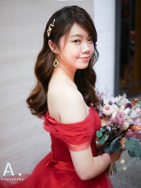 新祕,Ariesybaby造型團隊,甜美新娘,永生花捧花,
