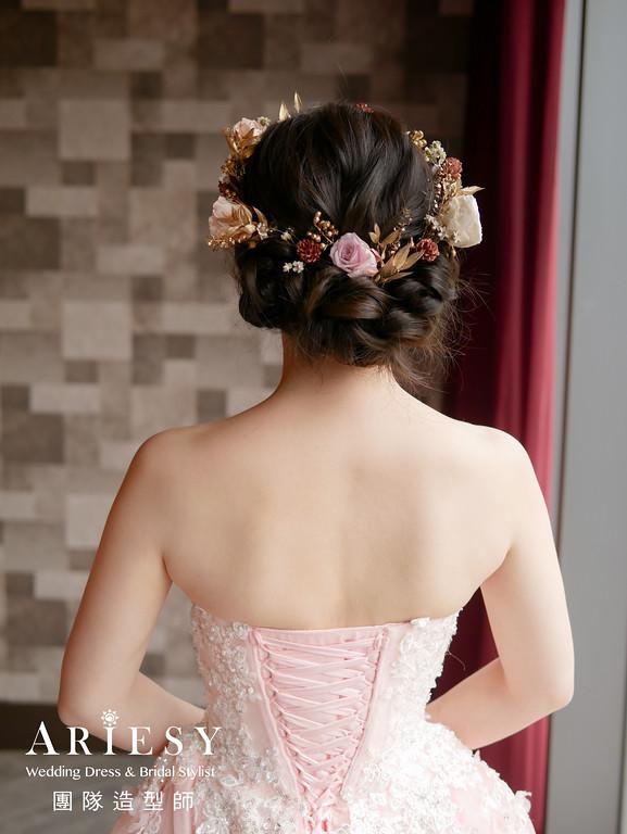 送客髮型,編髮造型,新娘花造型,新秘推薦,新秘花藝