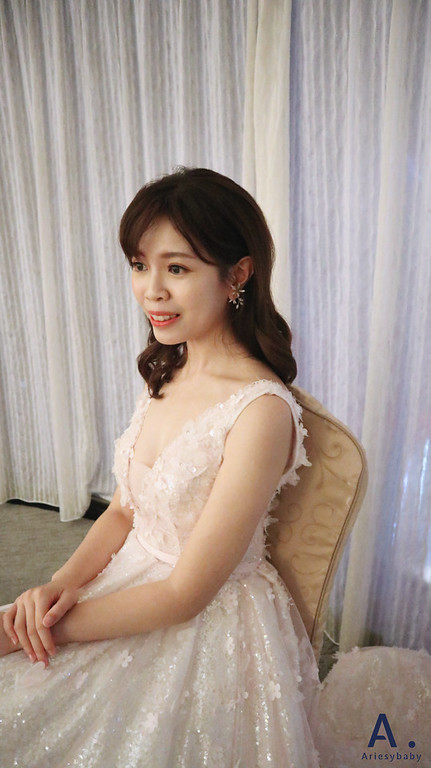 新娘秘書,新祕,台北新秘,新娘髮型,Ariesybaby造型團隊,清透妝感,新娘造型