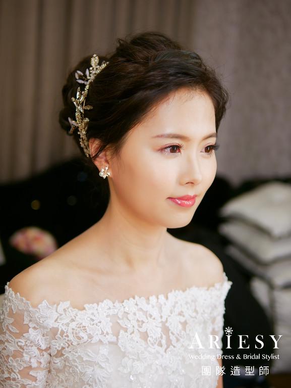 文定髮型,新秘編髮,新娘妝感,新娘髮型,粉紅色禮服造型