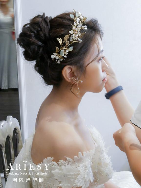 進場髮型,新娘華麗造型,新秘推薦,新秘編髮,精緻妝感