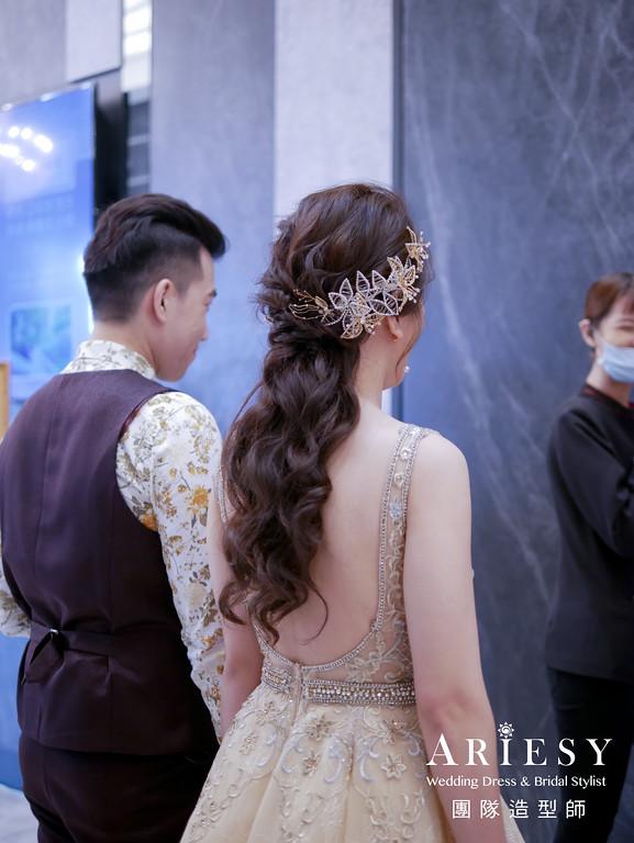 敬酒髮型,新娘秘書,新娘髮型,華麗造型,歐美造型