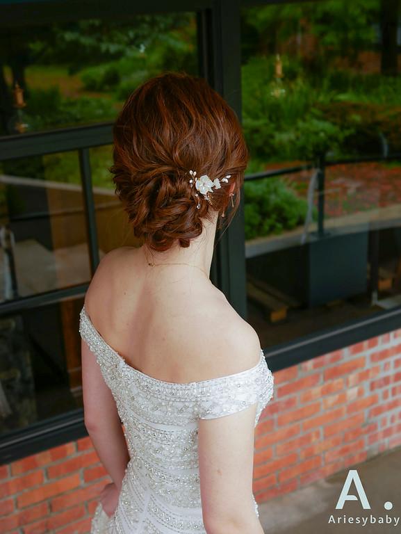 新祕,歐美造型,Ariesybaby造型團隊,時尚新娘,歐美戶外婚禮