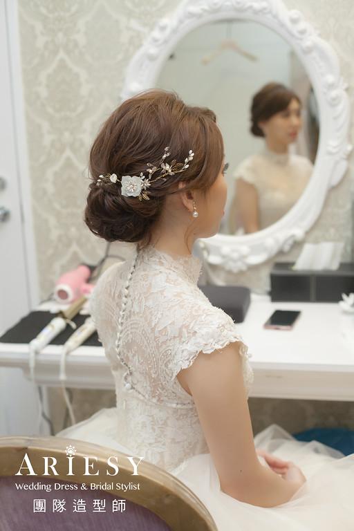 文定髮型,編髮造型,台北新秘,新娘白紗造型,新娘妝