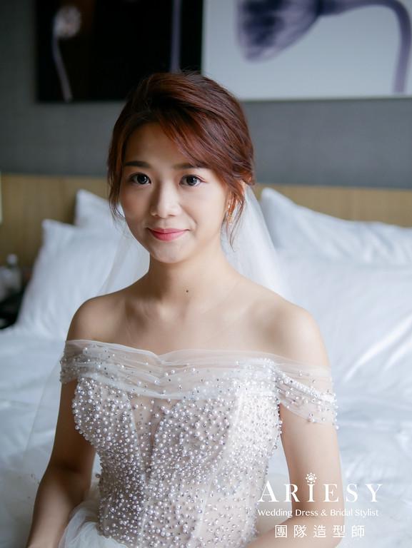 迎娶髮型,台北新秘,韓系新娘造型,新娘妝感,新娘秘書