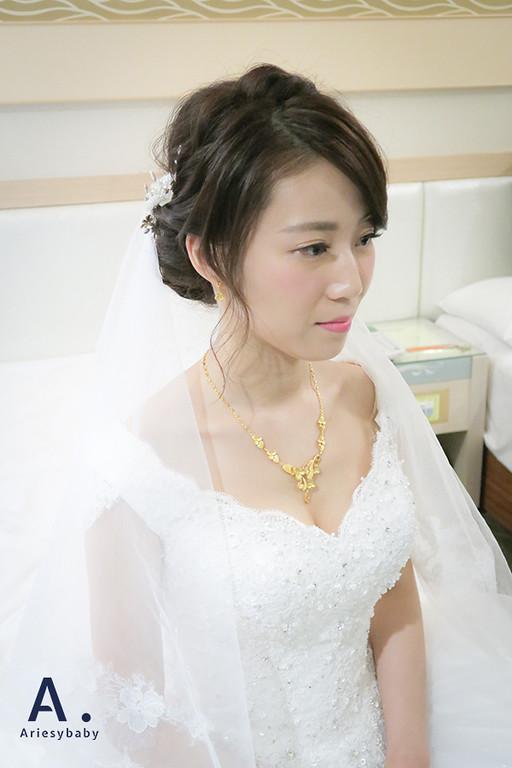 頭紗新娘造型,Ariesybaby新秘團隊,新娘秘書,新秘作品,新娘髮型,迎娶造型