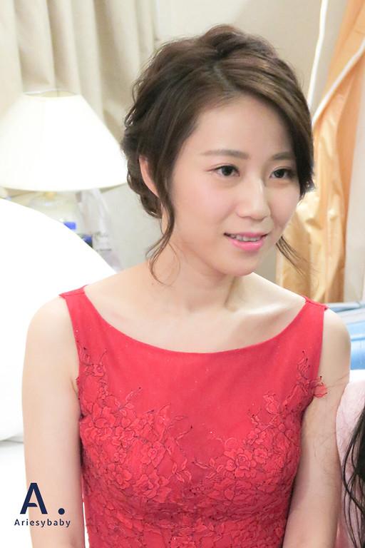 文定造型,紅禮服新娘造型,新娘盤髮,編髮造型,Ariesybaby新秘團隊