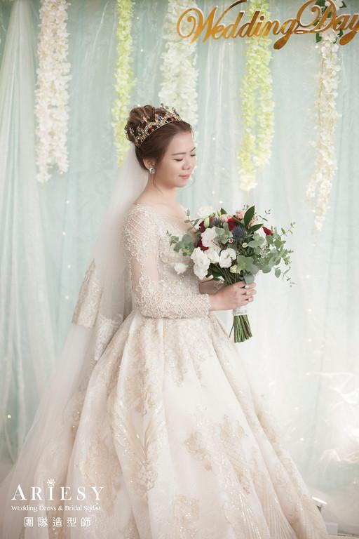 白紗進場髮型,新娘造型,新娘秘書,新娘秘書推薦,新娘編髮
