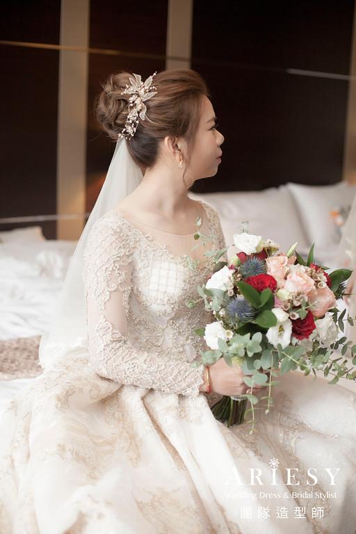 迎娶髮型,華麗宮廷造型,台北新秘,新娘編髮,新秘推薦