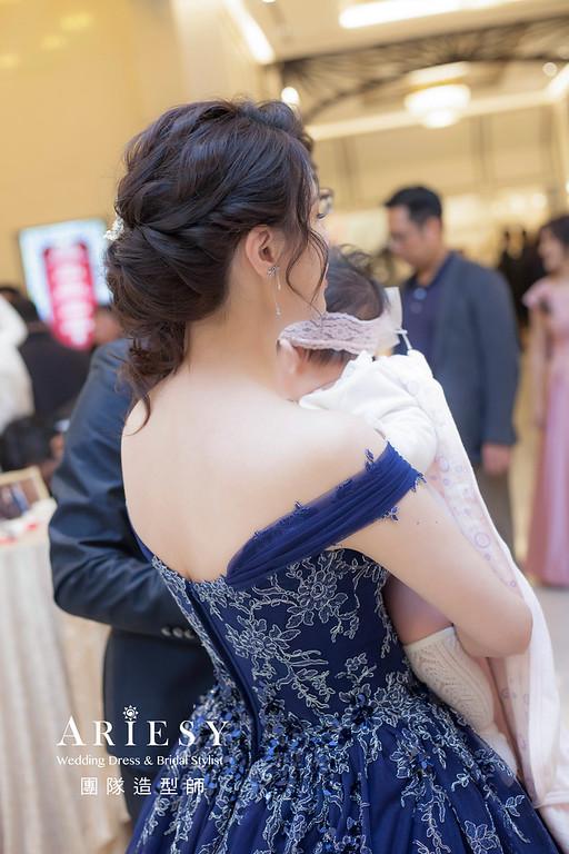 桃園新祕,新娘秘書,新娘造型,蓬鬆編髮,送客,新娘髮型,婚宴造型,皇家薇庭婚宴