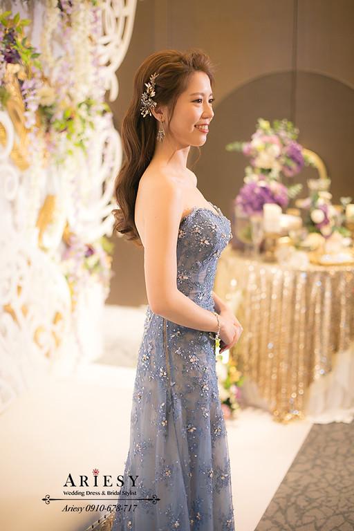 縷空禮服,愛瑞思,ariesy,水波紋髮型,台北新秘,新娘秘書,大波浪髮型