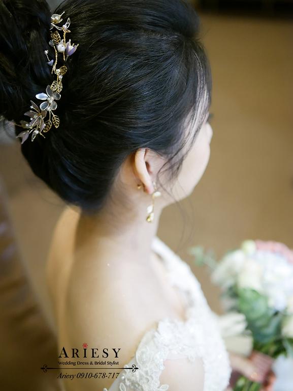 新娘秘書,新秘,愛瑞思,ARIESY,台北新秘,氣質新娘造型,韓風白紗