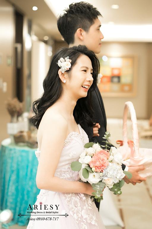 新娘秘書,新花新秘,愛瑞思,ARIESY,台北新秘,氣質新娘造型,送客新娘造型