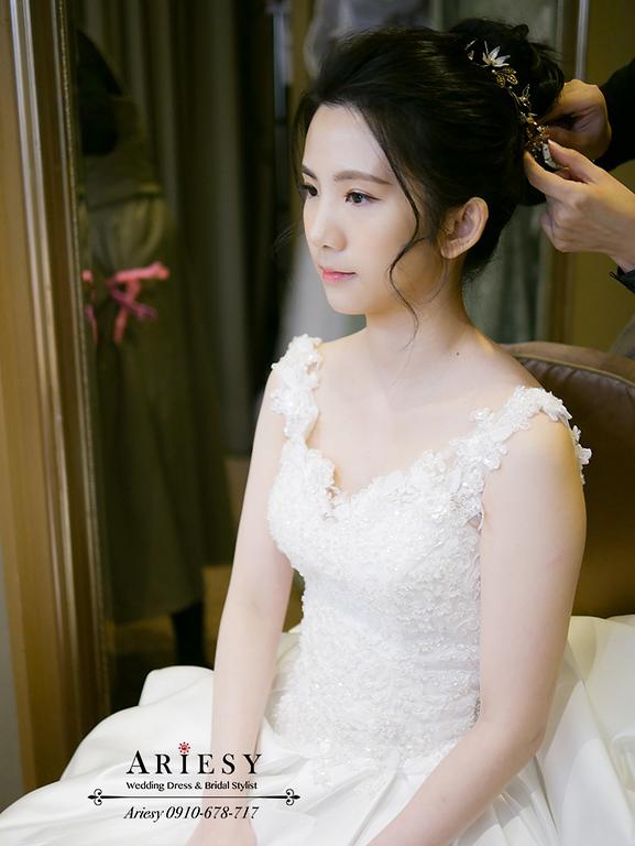 新娘秘書,新秘,愛瑞思,ARIESY,台北新秘,黑髮新娘造型,韓風白紗