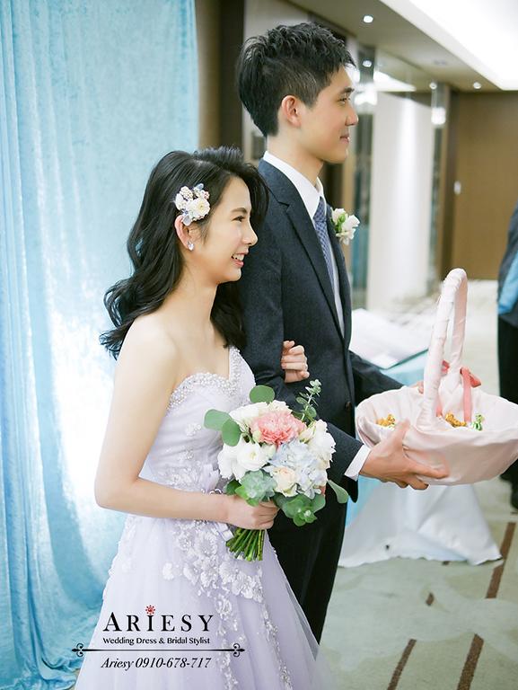 新娘秘書,新花新秘,愛瑞思,ARIESY,台北新秘,黑髮新娘造型,送客新娘造型