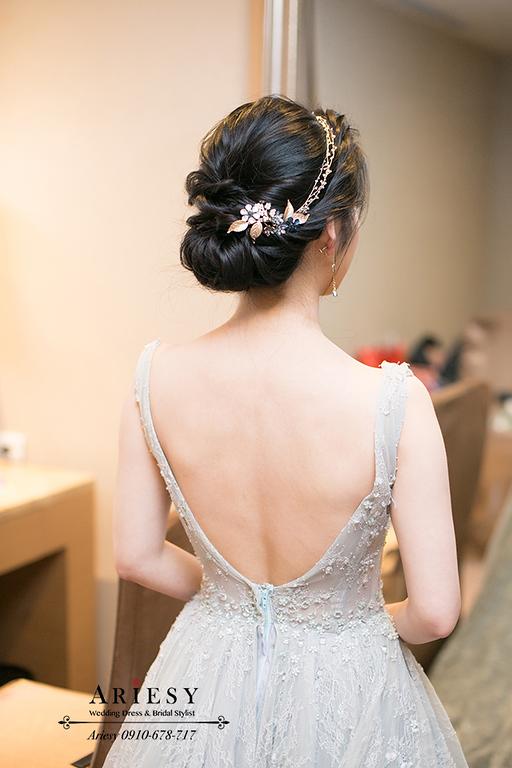 新娘秘書,新秘,愛瑞思,ARIESY,台北新秘,氣質新娘造型,敬酒新娘髮型