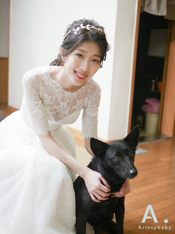 新祕,黑髮新娘造型,Ariesybaby造型團隊,韓系低馬尾造型,單眼皮新娘
