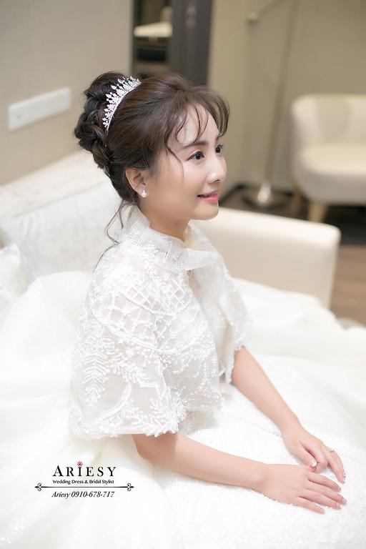 韓風清透新娘妝感,新娘秘書,新秘,台北新秘推薦,中短髮新娘造型,新秘
