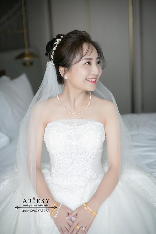 新娘秘書,新秘,台北新秘推薦,新娘造型,空氣八字瀏海,愛瑞思,ARIESY