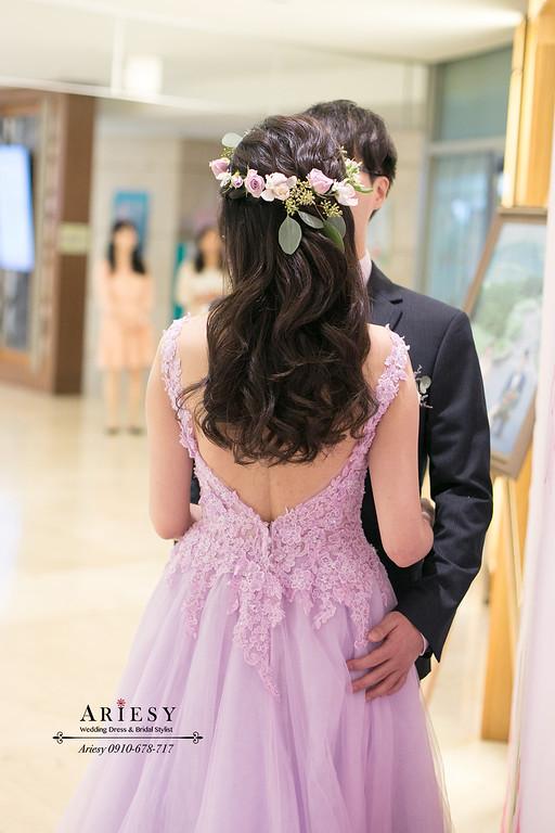 新娘秘書,新秘,台北新秘推薦,愛瑞思,ariesy,鮮花花圈新娘造型