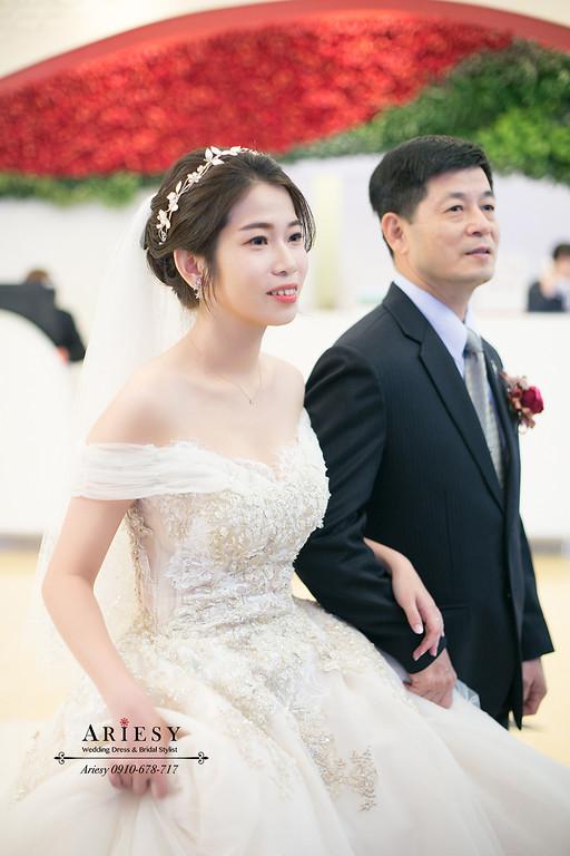 氣質新娘白紗造型,新秘,台北新秘推薦,愛瑞思,ARIESY,新娘秘書