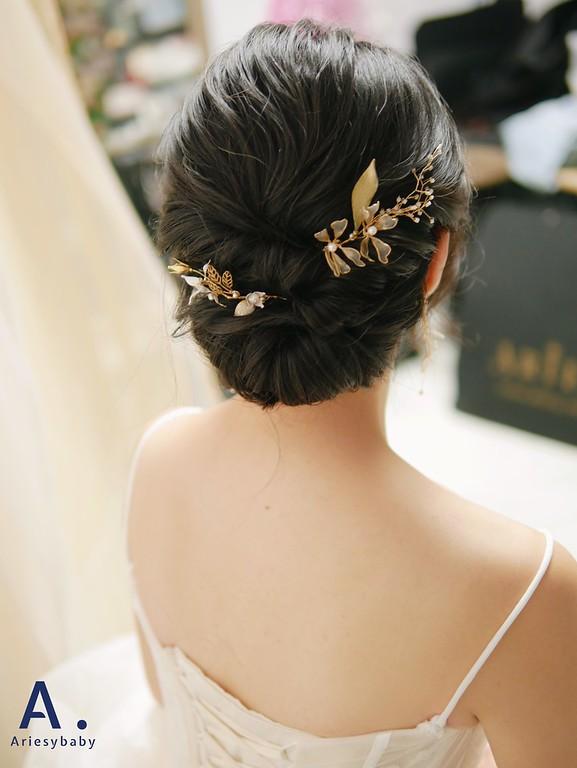 新秘,新娘秘書,黑髮新娘造型,韓系清透新娘妝感,新秘推薦