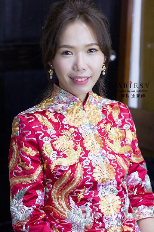新秘,龍鳳掛造型,新娘秘書,台北新秘,編髮造型