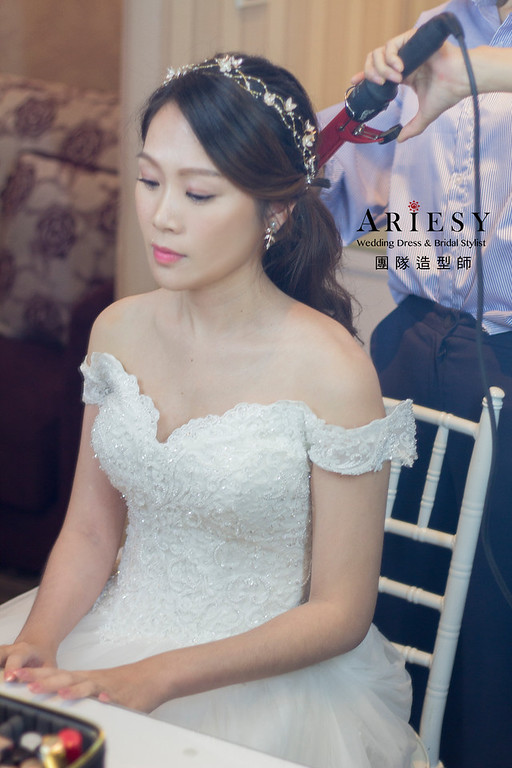 新秘,新秘造型,戶外婚禮造型,美式婚禮,白紗新娘造型