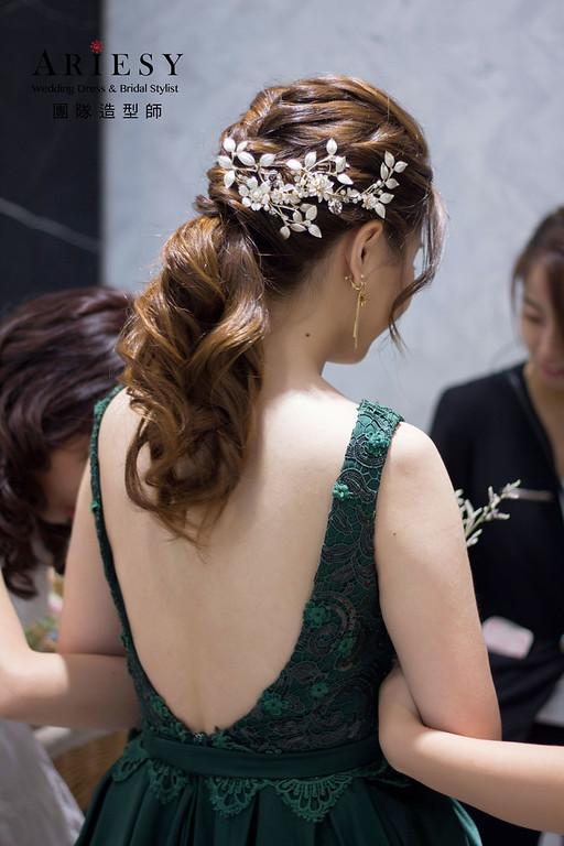 新娘編髮髮型,新娘韓系清透妝感,新秘,台北新秘,新娘皇冠造型