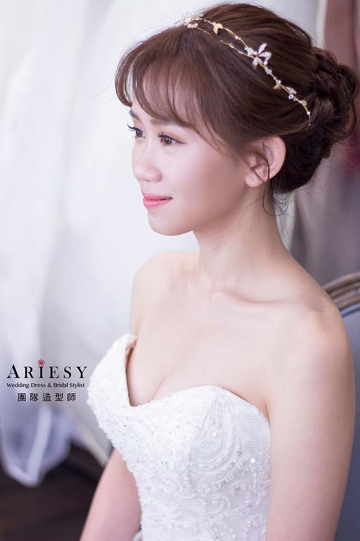 新秘,新娘妝感,新娘秘書,台北新秘,細軟髮新娘造型
