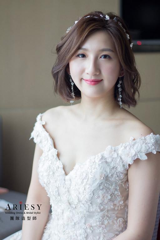 新娘秘書,新秘推薦,新秘,台北新秘,短髮造型
