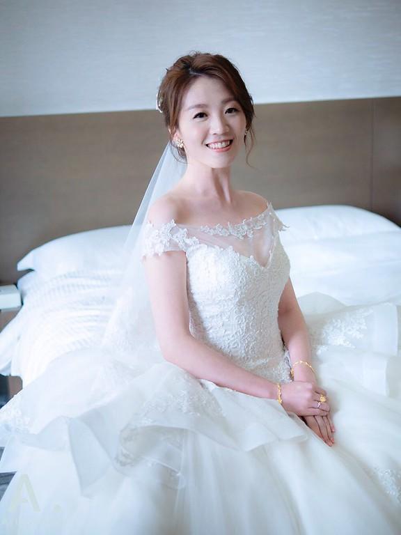 新祕,Ariesybaby造型團隊,單眼皮新娘,白紗造型,花藝新娘造型