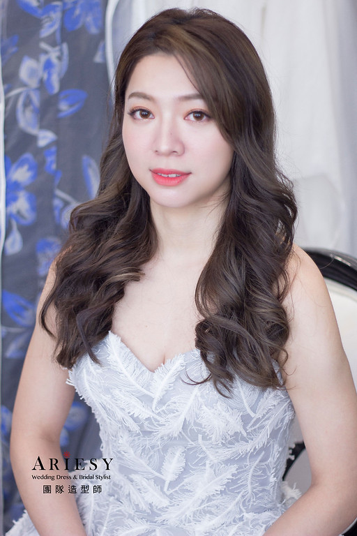 韓系氣質髮型,新娘妝感,新秘推薦,台北新秘,新秘