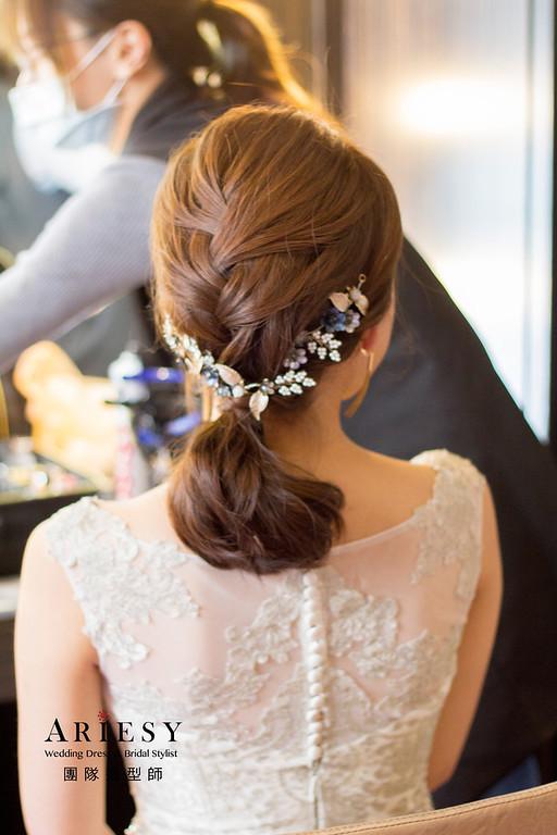 新秘,新秘韓系造型,新娘妝感,新娘髮型,白紗造型