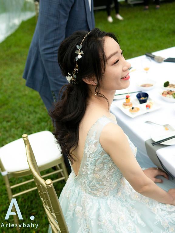 新祕,Ariesybaby造型團隊,美式戶外婚禮,花藝造型,白紗造型