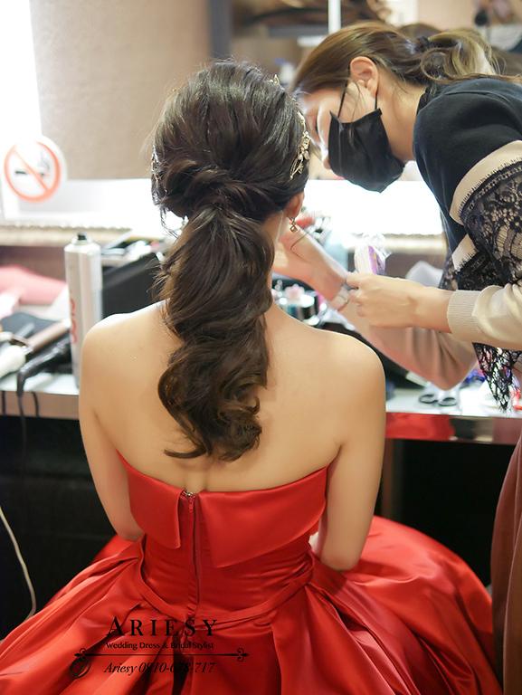 新娘秘書,新秘,愛瑞思,ARIESY,名媛時尚新娘,送客新娘髮型