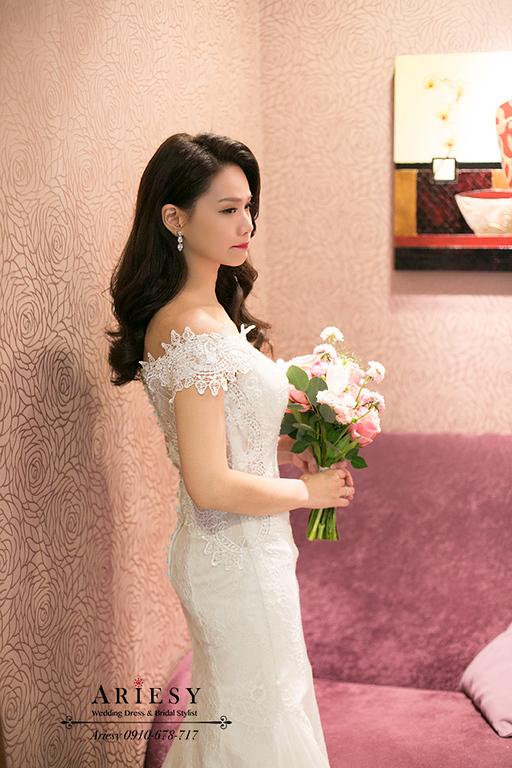 新竹新娘秘書,新秘,愛瑞思,ARIESY,名媛黑髮時尚新娘,新娘造型,莓果色紅脣
