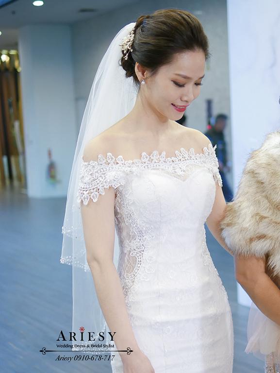 新竹新娘秘書,新秘,愛瑞思,ARIESY,黑髮名媛時尚新娘,新娘造型,莓果色紅脣