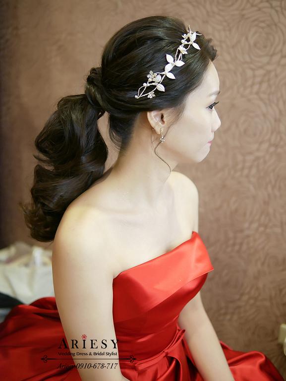 新娘秘書,新秘,愛瑞思,ARIESY,名媛時尚黑髮新娘,送客新娘髮型