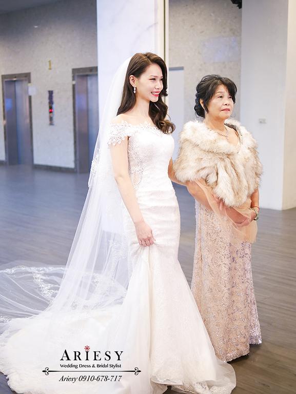 新竹新娘秘書,新秘,愛瑞思,ARIESY,名媛時尚黑髮新娘,黑髮新娘造型,莓果色紅脣