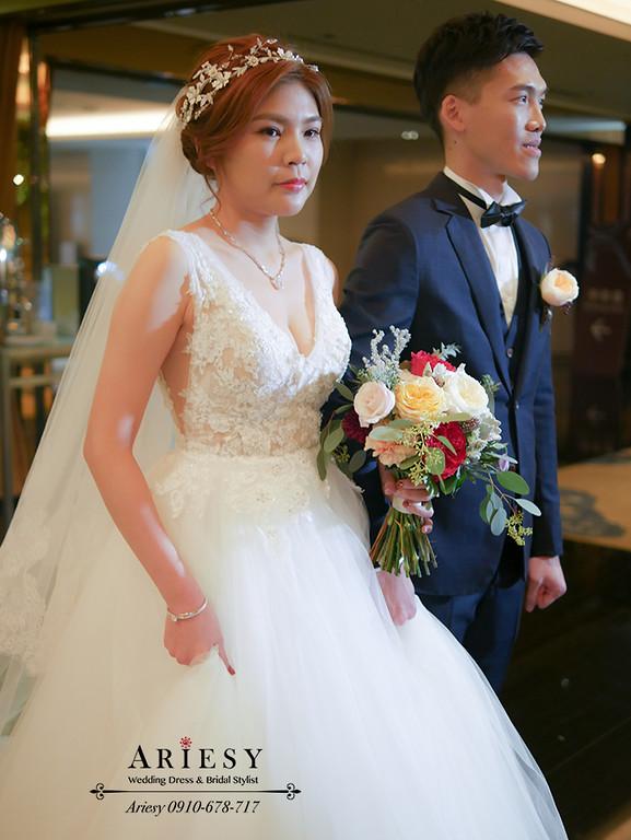 愛瑞思,進場造型,頭紗造型,新娘髮型,歐美新娘造型,新秘作品