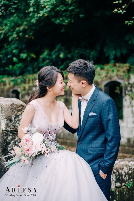 ARIESY手工婚紗,婚攝大嘴,愛瑞思新娘秘書團隊,新莊攝影工作室,魚尾蕾絲透膚手工婚紗,淡紫色晚宴服