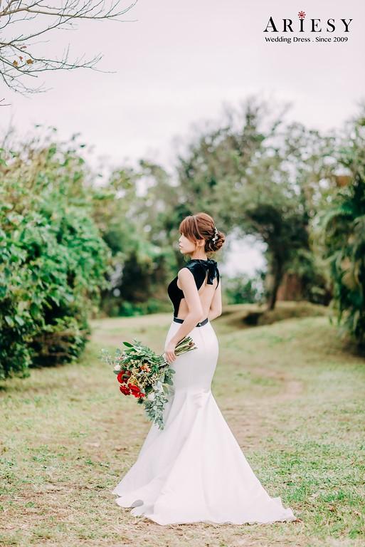 ARIESY手工婚紗,婚攝大嘴,愛瑞思新娘秘書團隊,新莊攝影工作室,蕾絲透膚白紗,透膚圖騰蕾絲晚禮服,復古赫本禮服