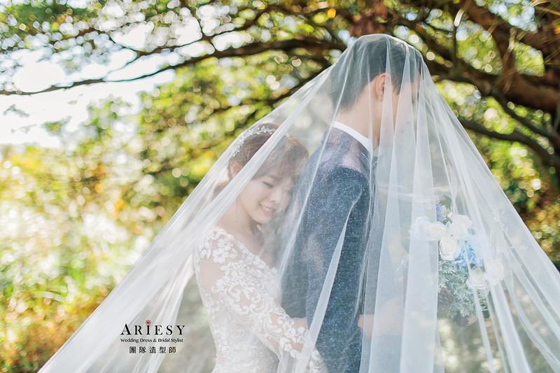自助婚紗,白紗造型,蓬鬆編髮,新娘造型,新娘髮型,新娘秘書,新祕