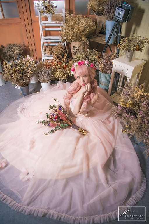 禮服出租,婚紗禮服工作室,新莊自助婚紗,手工婚紗,夢幻華麗系粉色甜美晚禮服